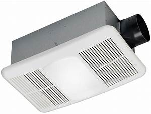 White Bathroom Exhaust Fan With Heater And Light 1 5