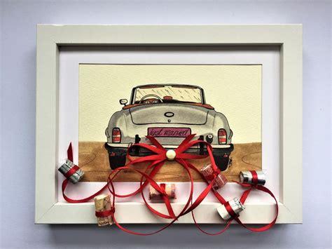 hochzeitsgeschenk auto bilderrahmen geldgeschenk
