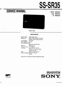 Sony Ss-sr35 Service Manual