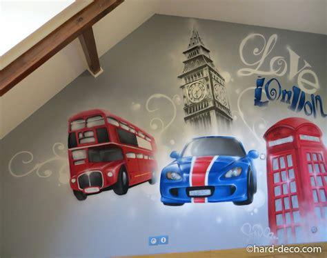 chambre th鑪e londres chambres de garçons décoration graffiti page 2 sur 12 deco