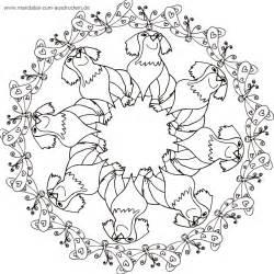 hunde design mandalas zum ausdrucken mandala hunde malvorlagen design bild