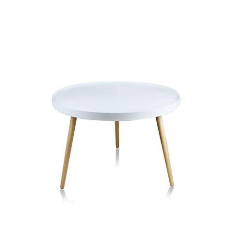 table basse de salon blanche ronde pristina achat vente table basse table basse ronde
