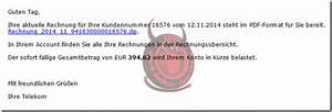 Telekom Rechnung Fake : internetbetr ger geben sich als telekom aus und versenden ~ Themetempest.com Abrechnung