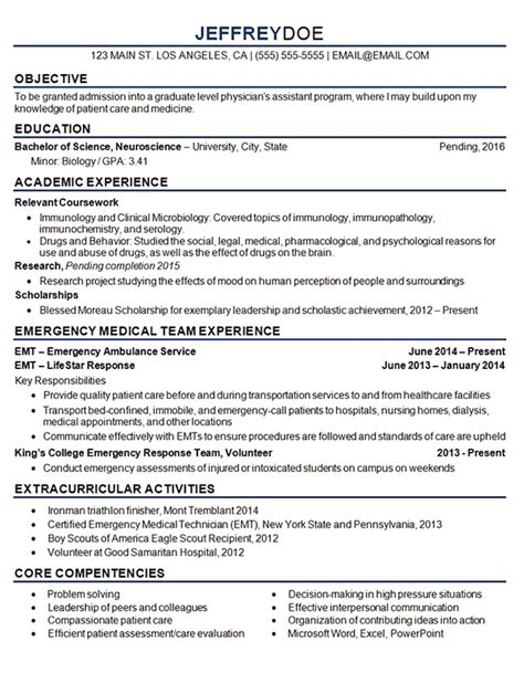 How To Make A Med School Resume by Student Resume Exle Sle
