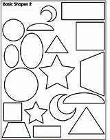 Coloring Shapes Pages Basic Shape Crayola sketch template