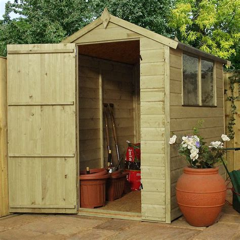 Shiplap Shed by 6ft X 4ft Waltons Shiplap Pressure Treated Apex Wooden