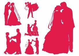 Free Married Couples Silhouettes Clipart and Vector ...