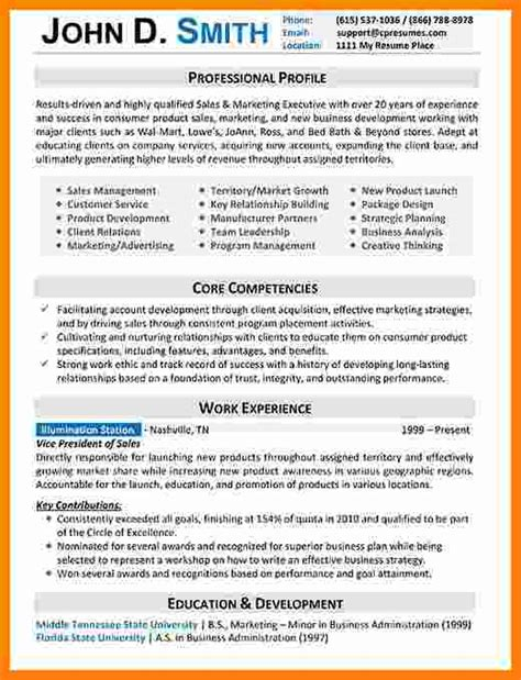 Resume Format For Experienced Professional by 5 Cv Formats For Experienced Professionals Theorynpractice