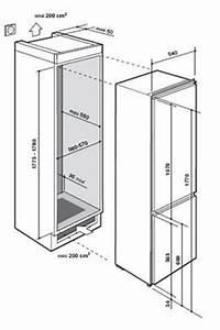 Frigo Encastrable Dimension : refrigerateur congelateur encastrable de dietrich ~ Premium-room.com Idées de Décoration