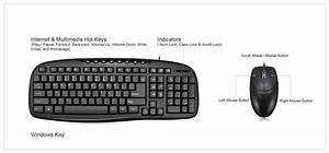 Easytouch U2122 Akb-133cb Desktop Usb Multimedia Keyboard And Mouse Combo
