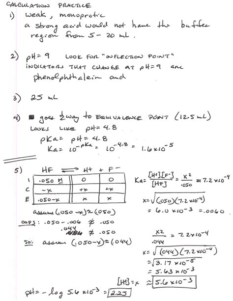 worksheets titration calculations worksheet opossumsoft