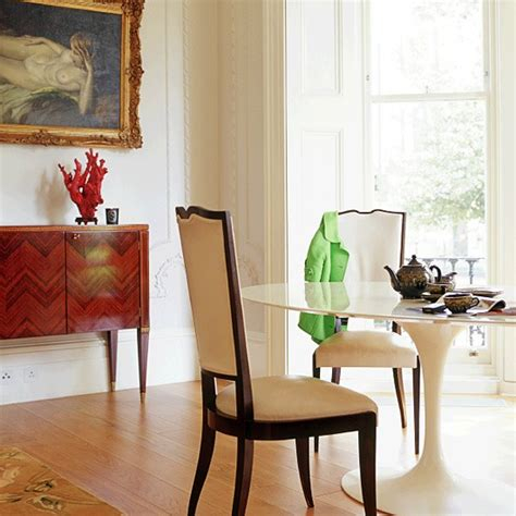 Dining Room With Vintage And Modern Accessories