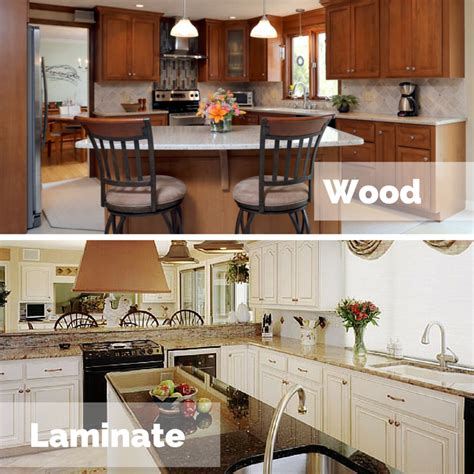 wood laminate cabinet refacing which is better for cabinet refacing laminate or wood