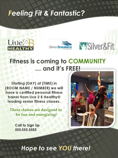SilverSneakers Marketing Materials - Live 2 B Healthy