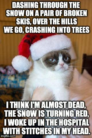 Grumpy Cat Snow Meme - grumpy cat christmas memes hot imgflip