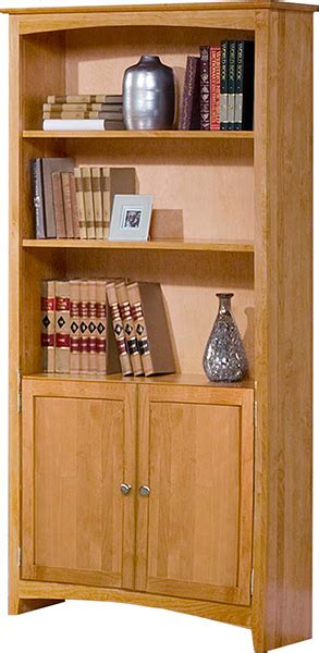 Unfinished Bookcases With Doors by Alder Shaker Bookcase With Doors Unfinished