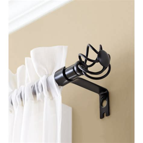 Walmart Better Homes And Gardens Curtain Rods by Better Homes And Gardens Black Curtain Rod Walmart