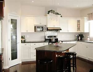 51 awesome small kitchen with island designs page 6 of 10 With kitchen colors with white cabinets with bali candle holders