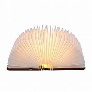 Nachttischlampe Ohne Kabel : led buch lampe in buch form holzbuch mit 2500 mah akku ~ Michelbontemps.com Haus und Dekorationen