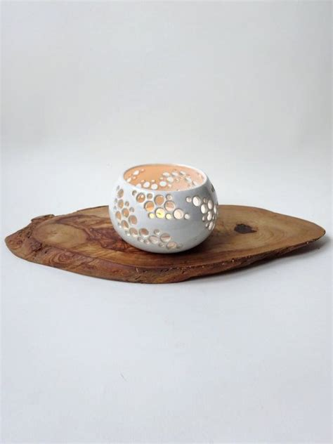 Candle Holder With Holes by 1000 Ideas About Ceramic Candle Holders On