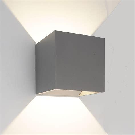 bruck sv qb modern silver led exterior wall sconce light