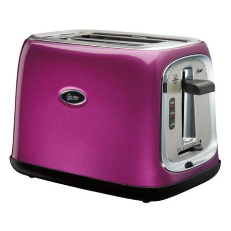 purple toaster oven oster 2 slice toaster with wide slots metallic
