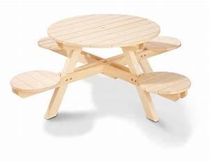 Table De Jardin Enfant : table de jardin enfant ronde en pin massif 4 tabourets pinolino ~ Teatrodelosmanantiales.com Idées de Décoration