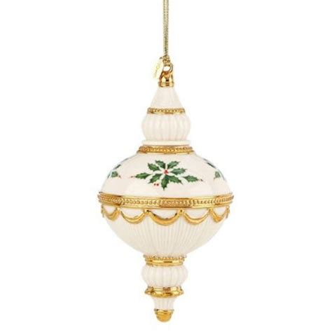 lenox christmas 2013 annual holiday spire ornament holly