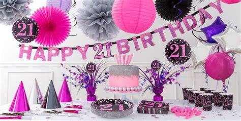 21st birthday decorations pink sparkling celebration 21st birthday supplies