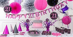 Pink Sparkling Celebration 21st Birthday Party Supplies ...
