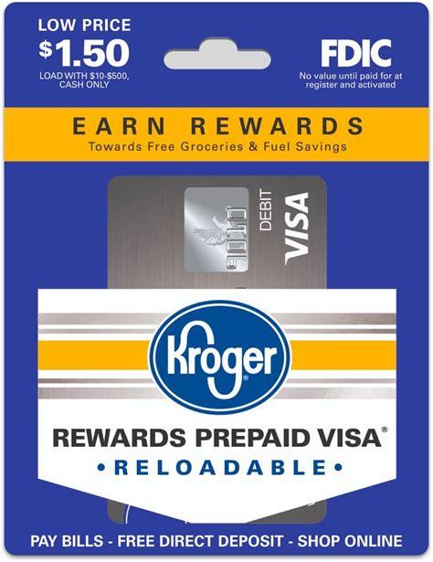 prepaid cards  rewards kroger rewards prepaid visa