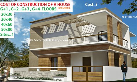 G+2 Home Design : What Is The Cost Of Construction For G+1 G+3 G+4 G+2