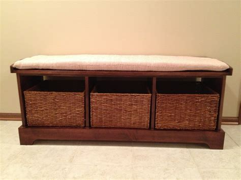 Storage Benches With Baskets And Cushion