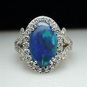 black opal engagement rings for your best ring option With black opal wedding rings