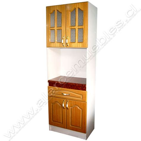 mueble de cocina despensa microondas colonial madera