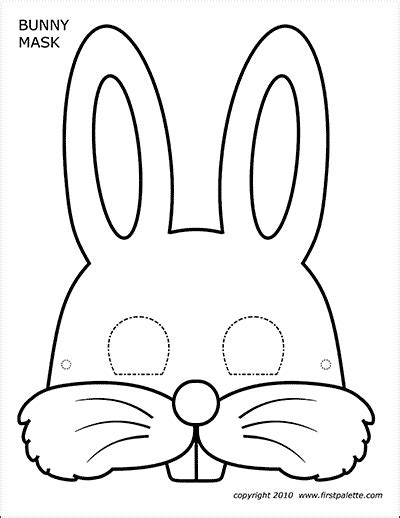 bunny masks  printable templates coloring pages