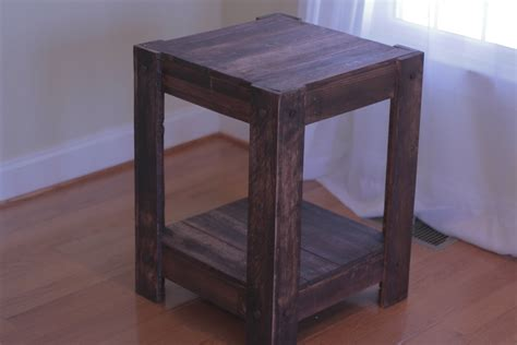 End Table Made From Pallets (plans Included