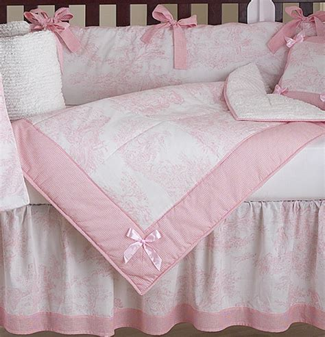 pink toile bedding luxury boutique french pink white toile discount 9pc baby girl crib bedding set ebay