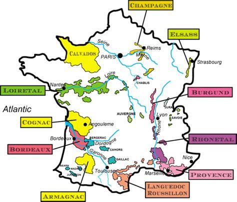 exquisine wein frankreich landkarte weinanbaugebiete