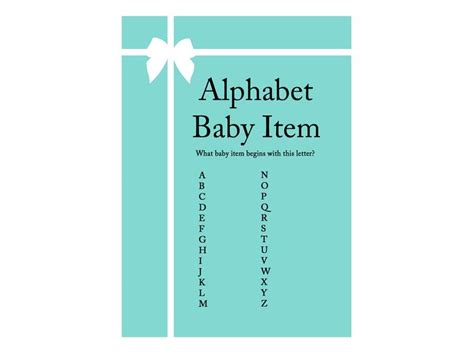 tiffany baby shower game pack magical printable