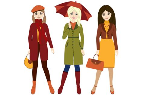 Girl Fall Clothes Clip Art