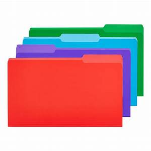 legal size interior file folders in assorted colors the With legal size document folder