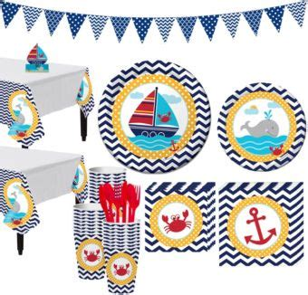 Ahoy Nautical 1st Birthday Party Kit For 32 Guests Party