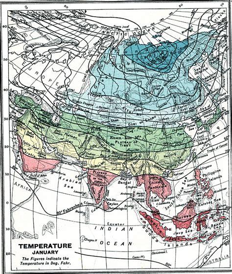 Temperature In Asia — January