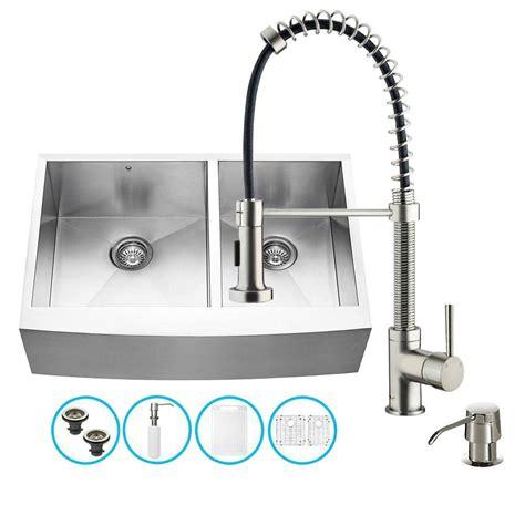 moen apron front sink moen 2200 series drop in stainless steel 33 in 4 hole