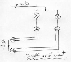 Double Va Et Vient : forum lectricit brancher un va et vient dissoci ~ Nature-et-papiers.com Idées de Décoration