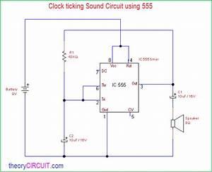Clock Ticking Sound Circuit Using 555