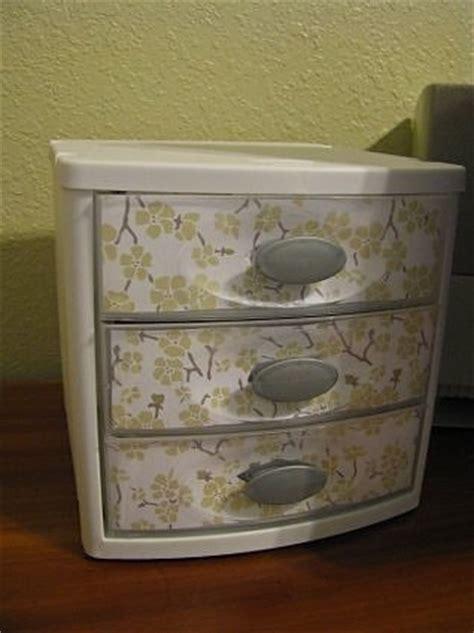 decorate plastic drawers ideas  pinterest diy
