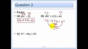 C How To : 4 4 solve ax 2 bx c 0 by factoring youtube ~ A.2002-acura-tl-radio.info Haus und Dekorationen