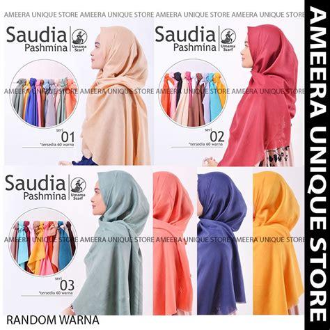 pashmina saudia polos part  umama jilbab hijab kerudung